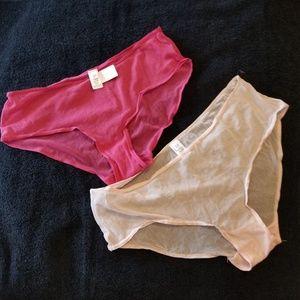 Gap Very Sheer Bikini Panties Pink 2 Pairs